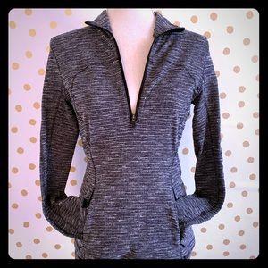 Lululemon Define Pullover. Size 8. Gray pattern.